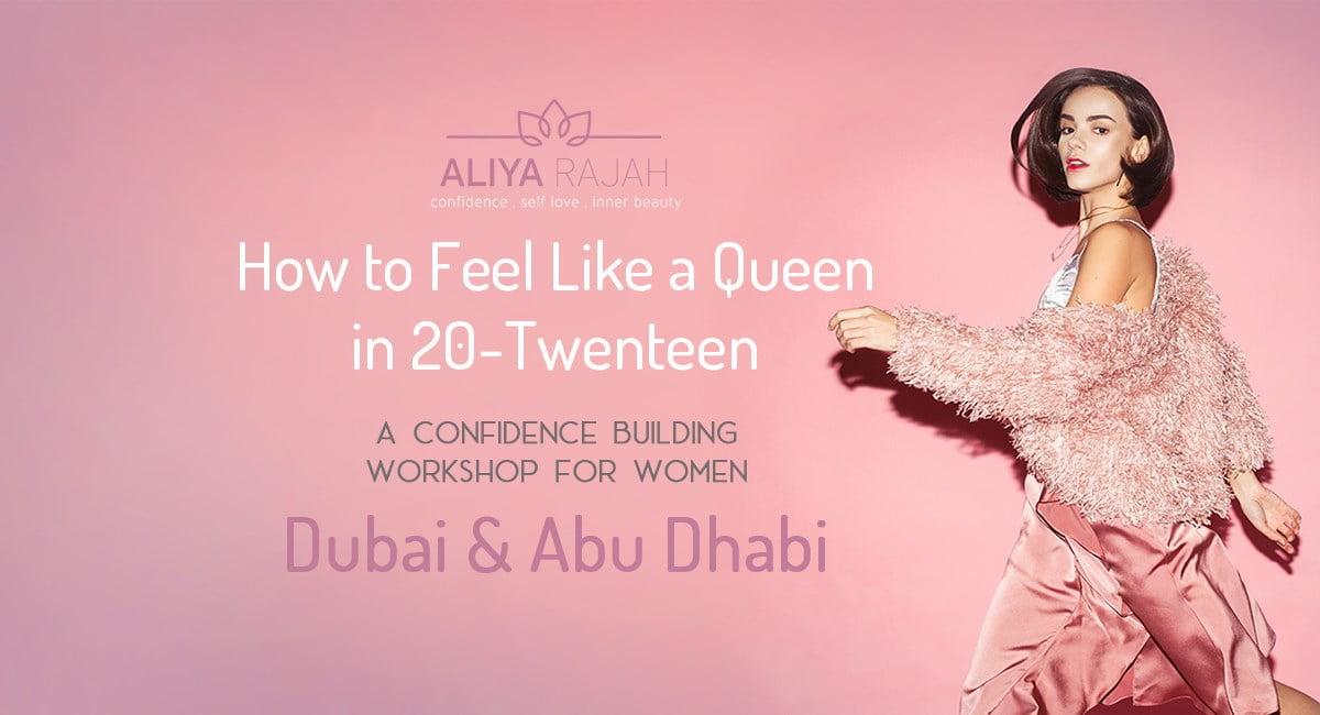 Life Coach Aliya Rajah - Confidence Workshops in Dubai and Abu Dhabi